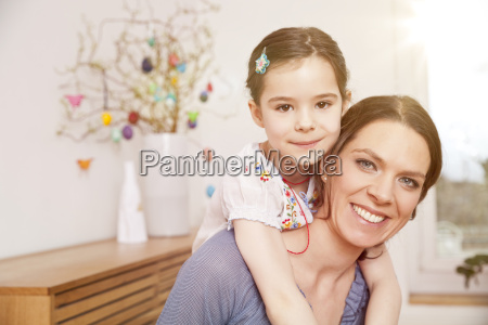 happy mother with her little daughter