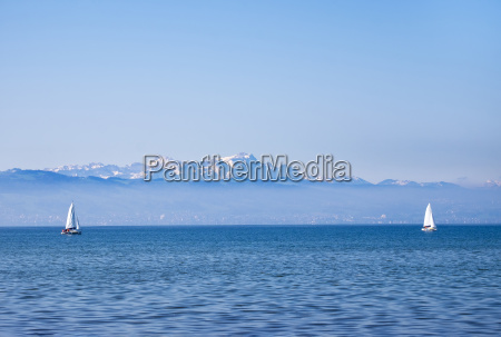 germany lake constance sailing boats mountains