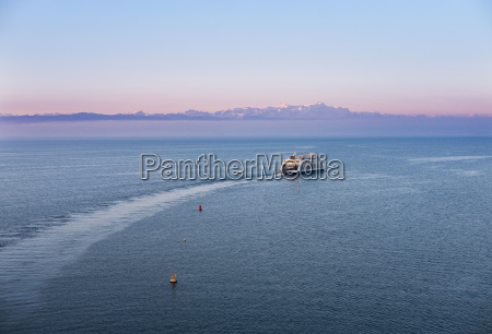 ferry on lake constance in the