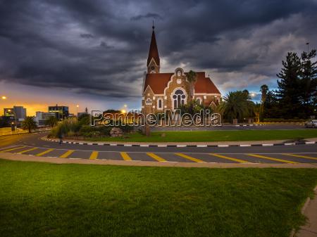 namibia windhoek christuskirche nationaldenkmal