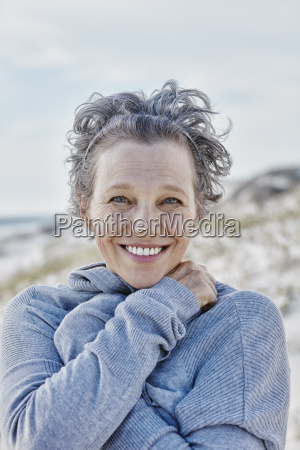 portrait of smiling woman on the