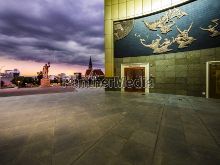 historisch geschichtlich statue wolke abend museum