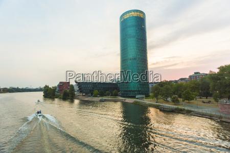 germany hesse frankfurt westhafen tower at