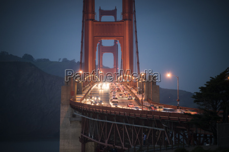 usa california rush hour on golden