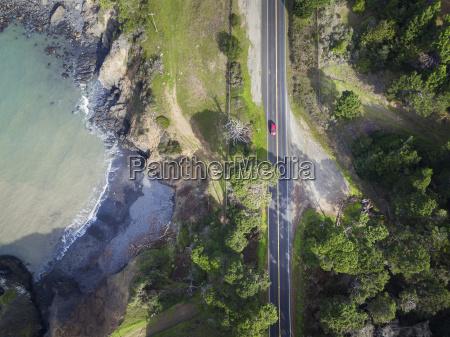usa california car on highway 1