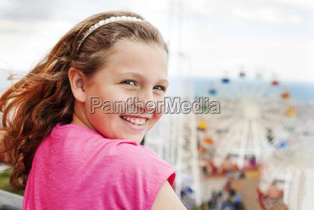 spain barcelona portrait of happy girl