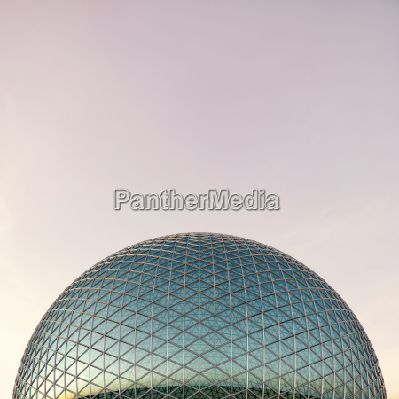 glass dome 3d rendering
