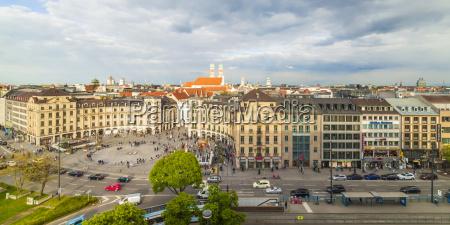 germany munich view to karlsplatz