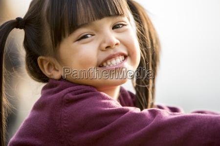 portrait of vietnamese girl smiling