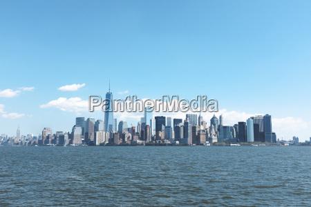usa new york city view of