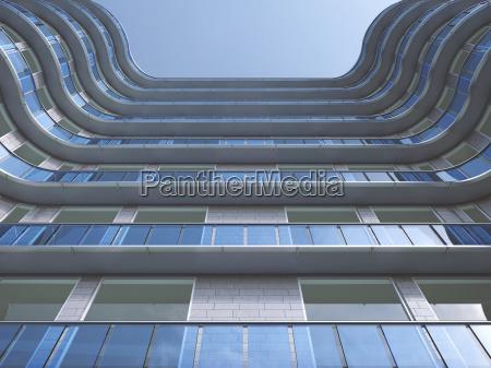 facade of high rise building seen