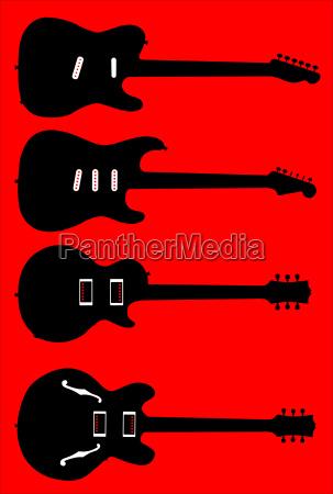 musik musikalisch elektrisch gitarre silhouette silhoutte
