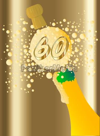 party feier fest sekt champagner jahrestag