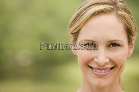 portrait blonde mid adult woman