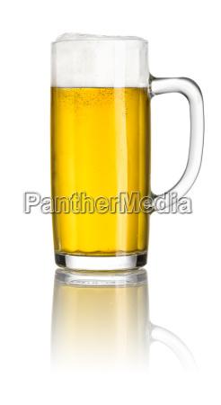 light beer in a beer mug