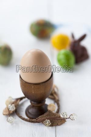 a close up of an egg