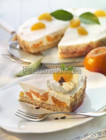 mandarin tart mit quark und creme