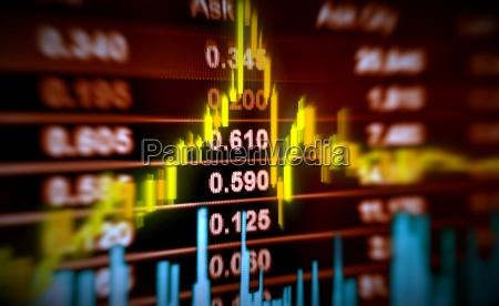 3d biganschauung aktienkurs und chart bewegung