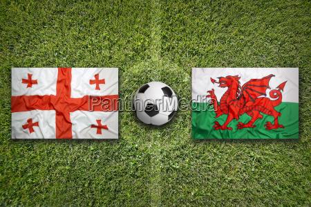sport ball fahne georgien flagge flaggen