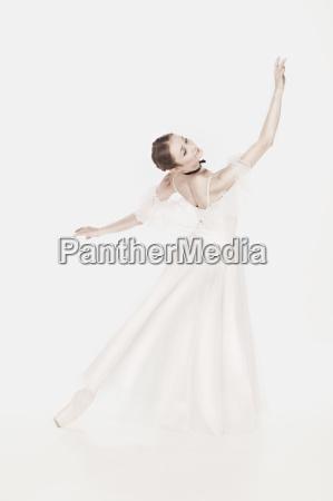romantische schoenheit retro stil ballerina