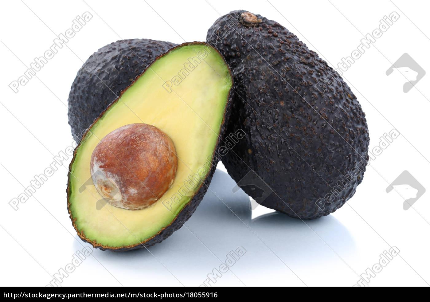 avocado avocados frucht geschnitten h lfte fr chte lizenzfreies foto 18055916 bildagentur. Black Bedroom Furniture Sets. Home Design Ideas