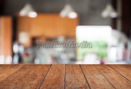 tabletop mit abstrakten unschaerfe coffeeshop hintergrund