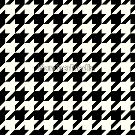 houndstooth tile black and white vector