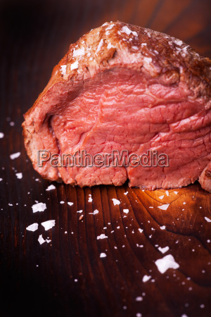 steak grilled on wood