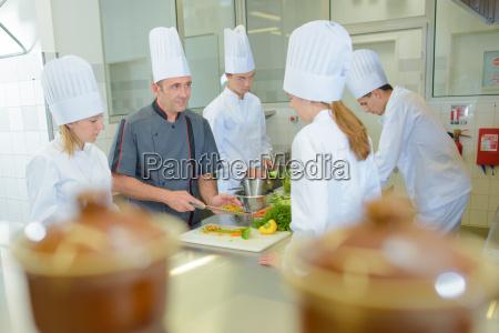 kitchen students