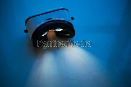 virtual reality leuchten in der nacht