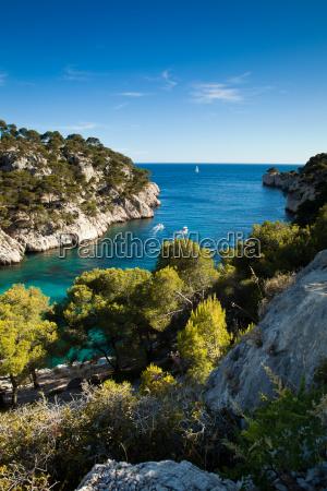 splendid southern france coast calanques de