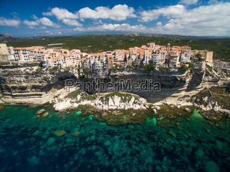 aerial view the old town of