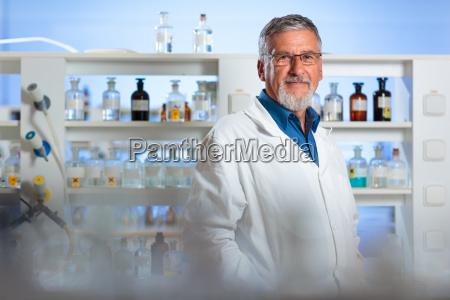 senior chemistry professordoctor in a lab