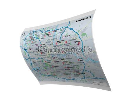 stadtplan von london freigestellt