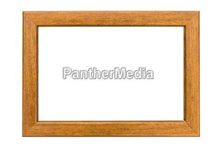 copper photo frame on white background