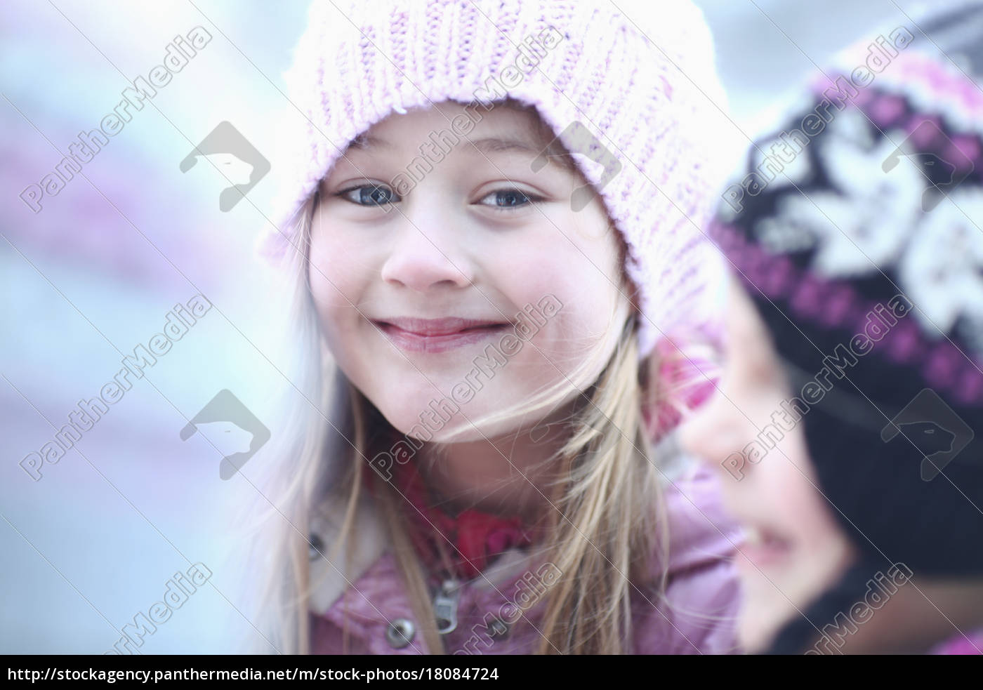 portrait, of, girl, in, woolly, hat - 18084724