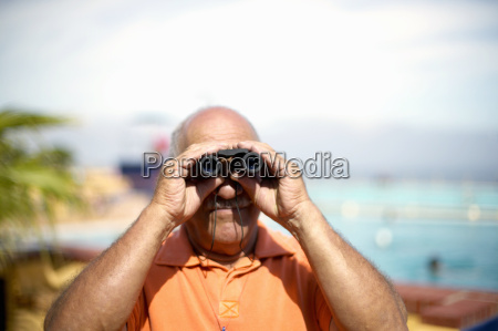 view of middle aged man looking