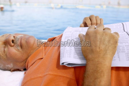 view of man sleeping at the