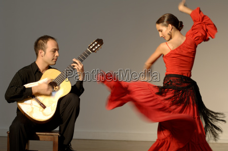 view of a young woman flamenco