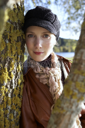 close up of woman smiling and