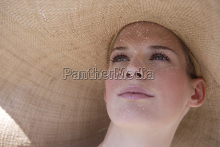 portrait of young woman in hat