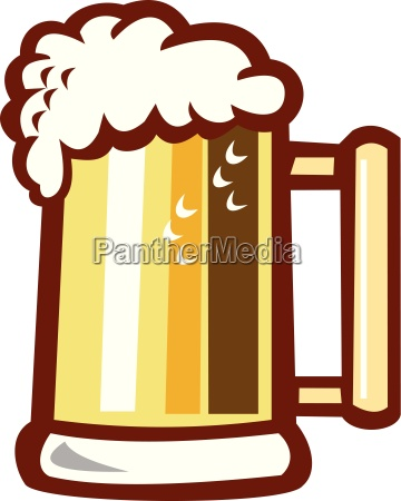 beer stein isolated retro