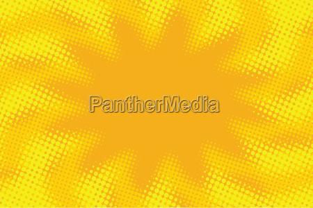 yellow orange abstract pop art retro