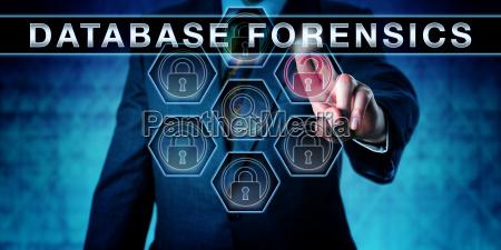 investigator touching database forensics