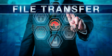 corporate client pushing file transfer