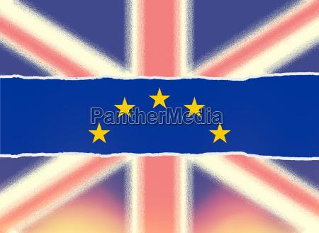 grossbritannien verlaesst eu brexit konzept