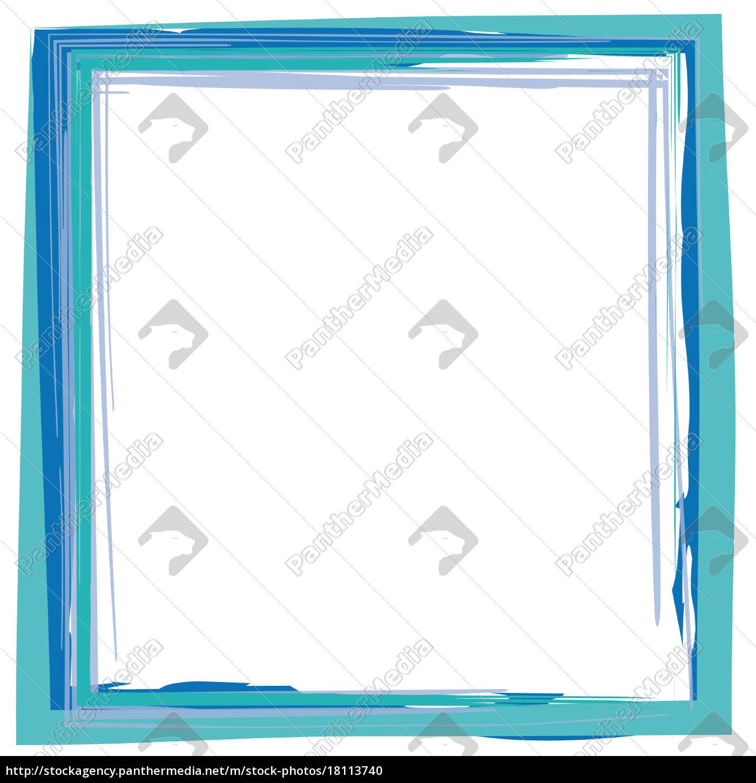 Rahmen Pinsel Strich blau - Lizenzfreies Foto - #18113740 ...