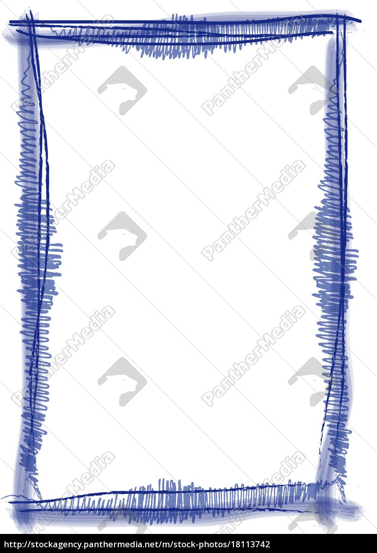 Rahmen Pinsel Strich blau - Stockfoto - #18113742 - Bildagentur ...