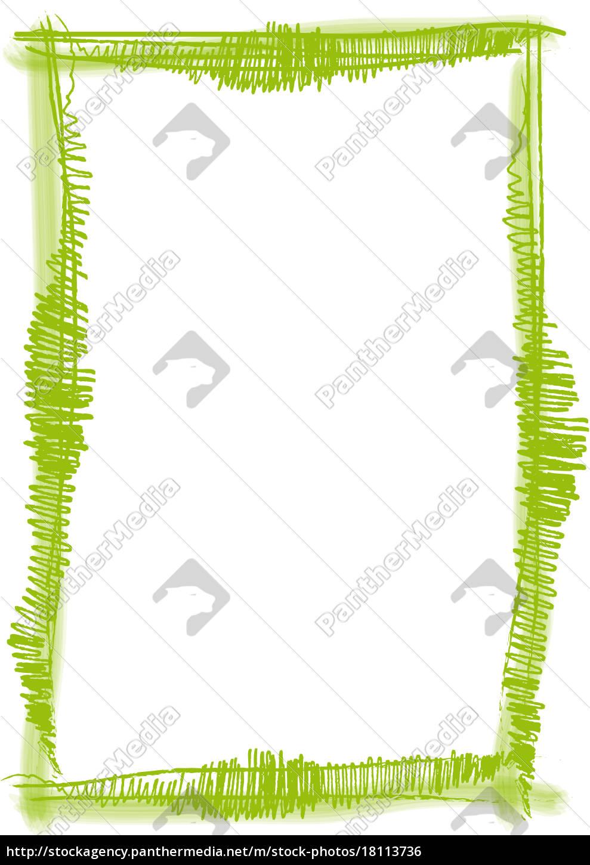 Rahmen Pinsel Strich grün - Lizenzfreies Foto - #18113736 ...