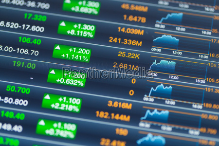 digital stock market chart on a